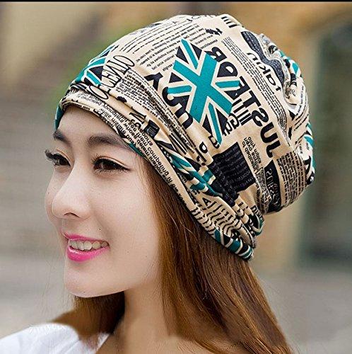 Pyrsun(TM) new Design 2 Use Scarf Knitted Winter Hats for Women Lady Cap Letter Beanies Women Hip-hot Skullies Women Gorros Beanies