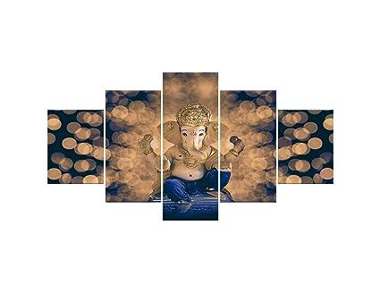 Amazon.com: Hindu Ganesha Canvas Painting Wall Art For Living Room ...