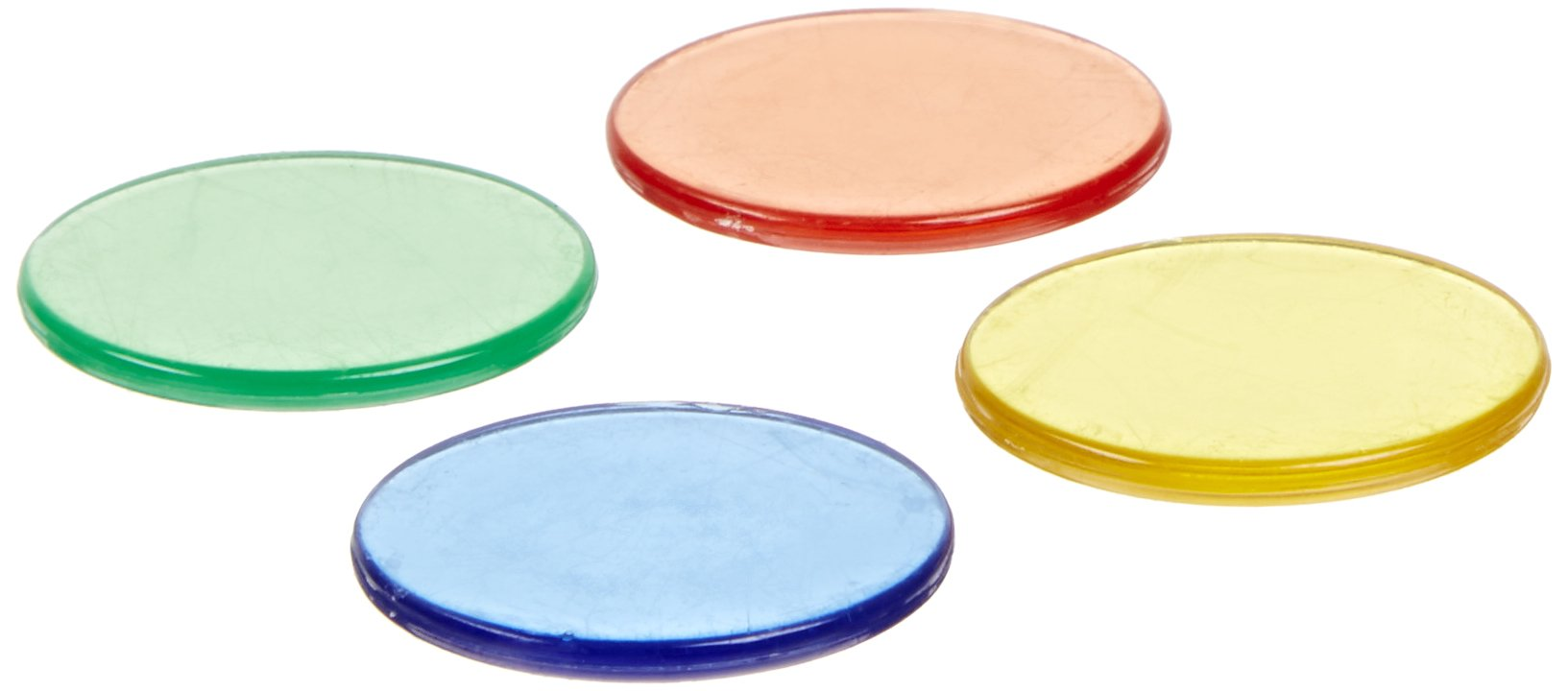 School Smart Assorted Colors Transparent Counters, 1'' Dia (Set of 1000)