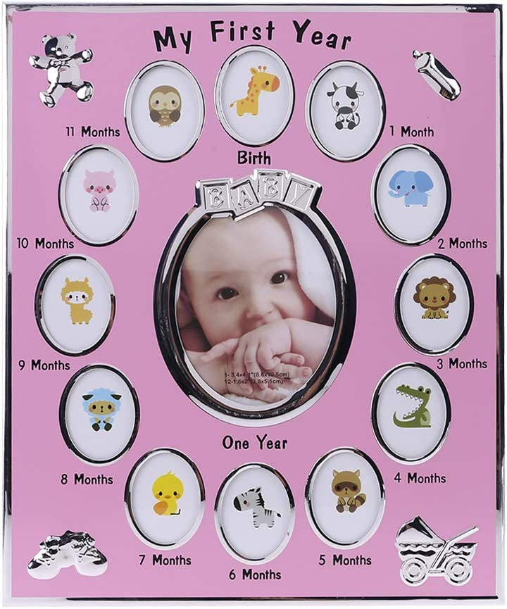 lipiny Baby Photo Frame My First Year Picture 12 Months Frame Kids Birthday Gift Home Decoration Family Ornaments