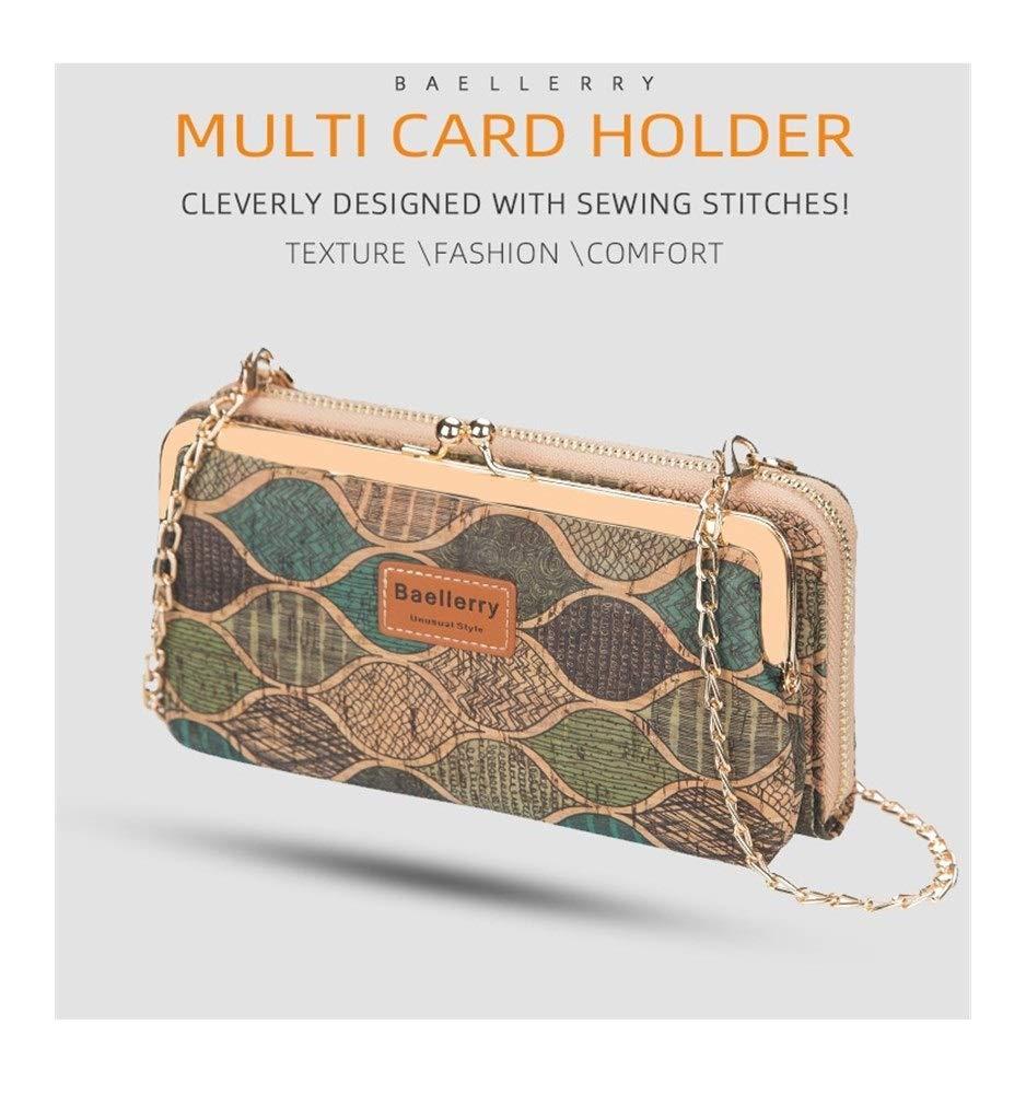 Axelväska för kvinnor liten mode träfiber mobiltelefonväska plånbok (färg: 1) 6