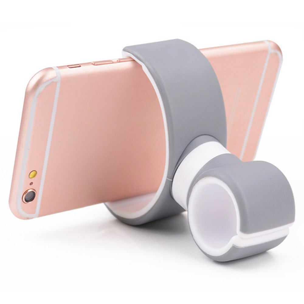 Axiba 360 Degrees Universal Air Vent Mount Bicycle Car Cell Phone Holder Stands for iPhone 6 Plus/7/8/X 3.5-6.0inch Phone (Gray)