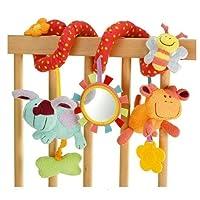 Newin Star spirale Attività giocattoli del passeggino e lettino culla Sonaglio, appese, Culla di giocattolo, Coniglio API