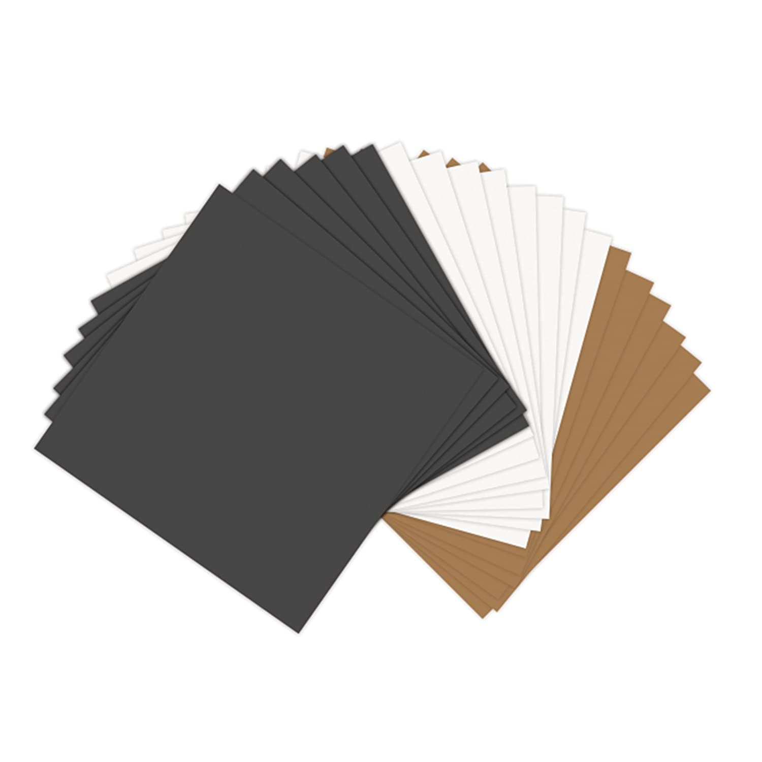 Sizzix 661149 Paper Leather Sheets 8-1/2 by 11 Assorted Basics, 10 Sheets Ellison