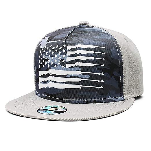 f943337577a Bombline Men Women American Ammo Flag Snapback Adjustable Baseball Caps Sun  Hat