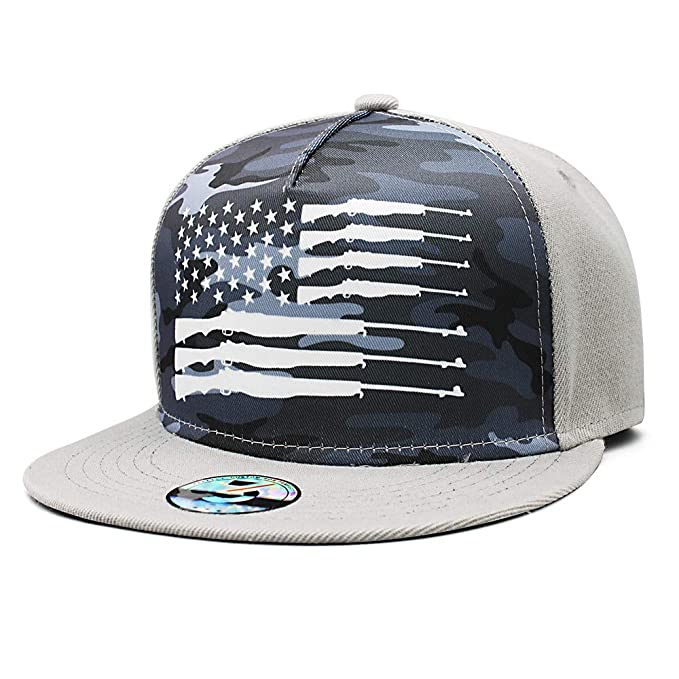 0f4eb922b7d7a Bombline Men Women American Ammo Flag Snapback Adjustable Baseball Caps Sun  Hat