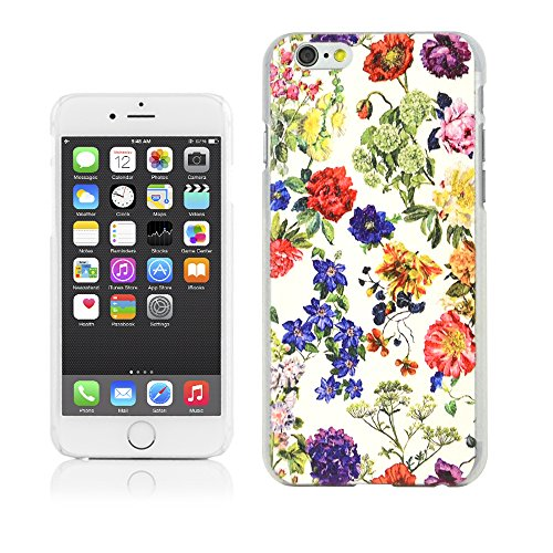 Aeonn Clear Lichee Pattern Case, iPhone 6 (4.7 inch) **ECO-Friendly Packaging** Printed Background, [ Anti-Slip Design], Matt PC Case for iPhone 6 - (water paint flower)