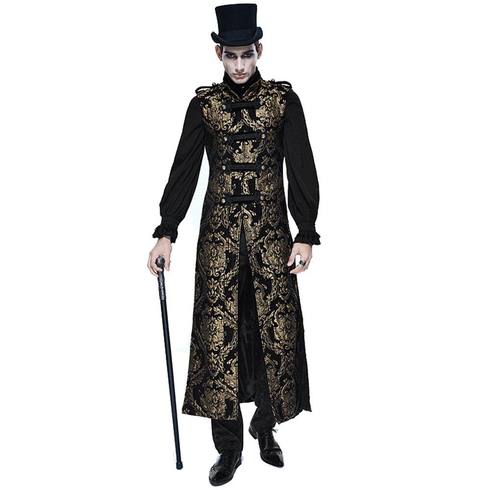 Steampunk Gothic Mens Long Waistcoat Jackets Winter Sleeveless Fashion Vest Coat CT06901 / CT06902