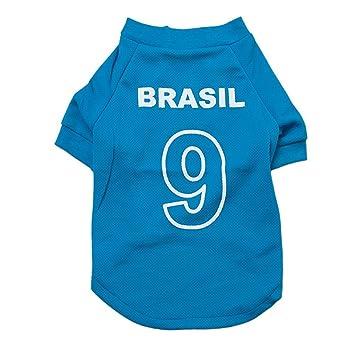 Ruiyue 2014 - Camiseta de fútbol para Perro, diseño de Copa del Mundo de fútbol