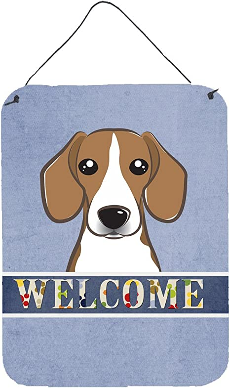 Caroline S Treasures Bb1425ds1216 Beagle Welcome Wall Or Door Hanging Prints 12x16 Multicolor Posters Prints
