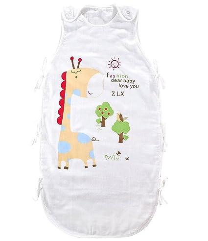 fzw Verano bebé gasa transpirable con saco de dormir verano bebé chaleco saco de dormir niño