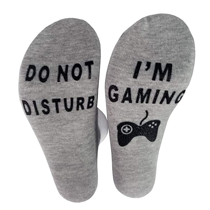 Aesy Do Not Disturb, Im Gaming Tobillo Calcetines, Juego de Calcetines Antideslizantes, Idea de Regalo para Hombres Mujeres (A1): Amazon.es: Ropa y ...