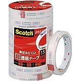3M スコッチ 黄ばみにくい超透明テープ 15mm×35m 10巻 BK-15