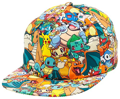 BIOWORLD-Pokemon-All-Over-Print-Sublimated-Snapback-Cap-Hat