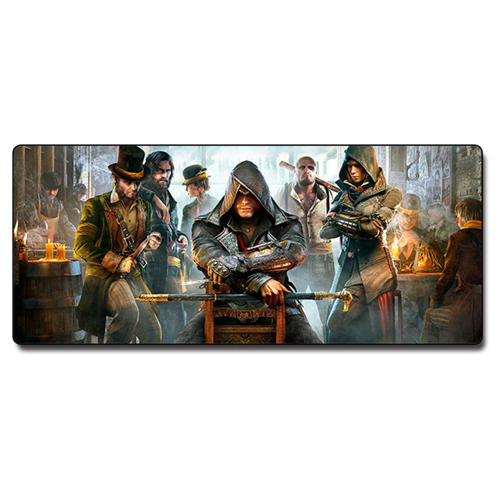 Mouse Pad Anime Large Game Table Mat with Patterned Non-Slip Rubber Base for Everyday Work and Gamers-B by HHRONG