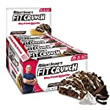 FITCRUNCH Protein Bars | Designed by Robert Irvine | World's Only 6-Layer Baked Bar | Just 6g of Sugar & Soft Cake Core (12 Bars, Cookies and Cream)