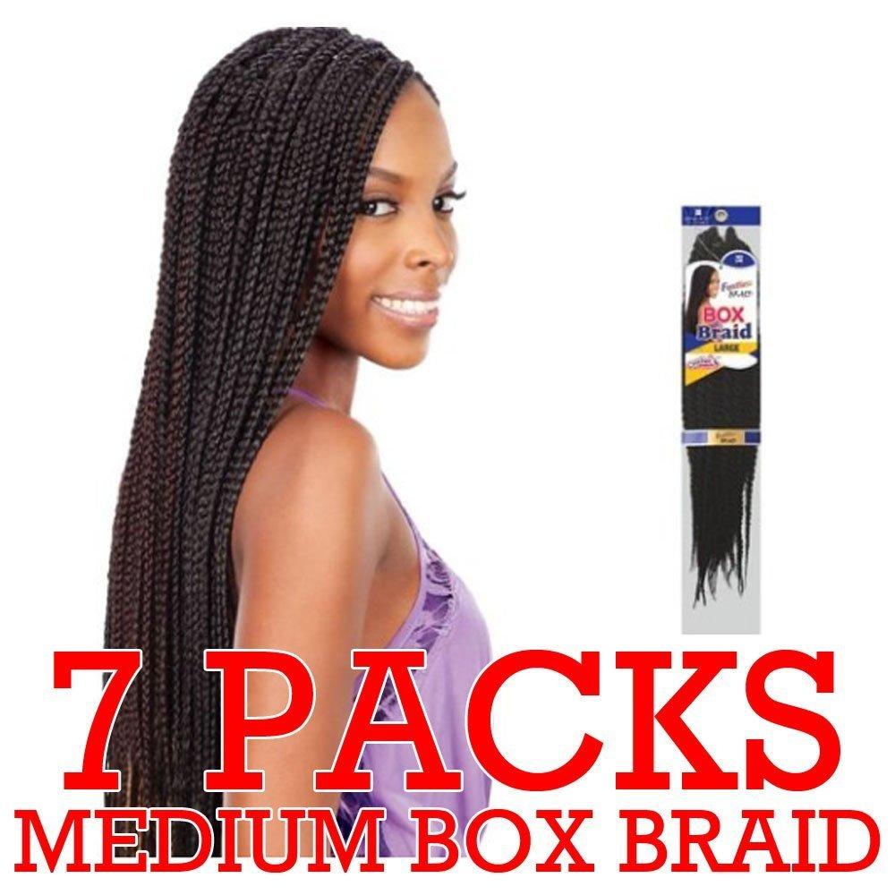 Amazoncom Freetress Medium Box Braids Shake N Go Crochet Latch