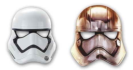 6 máscaras de papel * Star Wars VII * Para niños de cumpleaños y lema-fiesta // Juego de máscaras revestimiento de diseño de The Force despierta Lucas ...