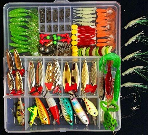 178pcs Fishing Lure Set Kit Fishing Tackle Lots Portable Fun Fishing Baits Kit Set