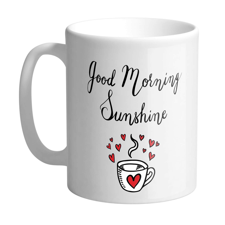 Buy Giftszee Good Morning Sunshine Morning Wish Inspiring Quote Printed Ceramic Coffee Mug 350ml Online At Low Prices In India Amazon In