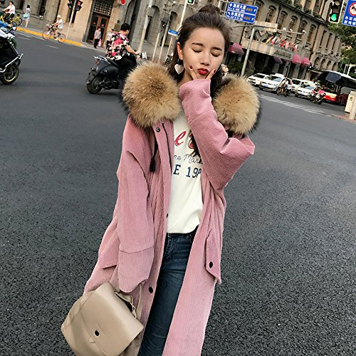 Winter Jacket Super Thick Xuanku white Milky Jacket In Cotton Long The Corduroy Coat 5208 Hooded TwfRxzf