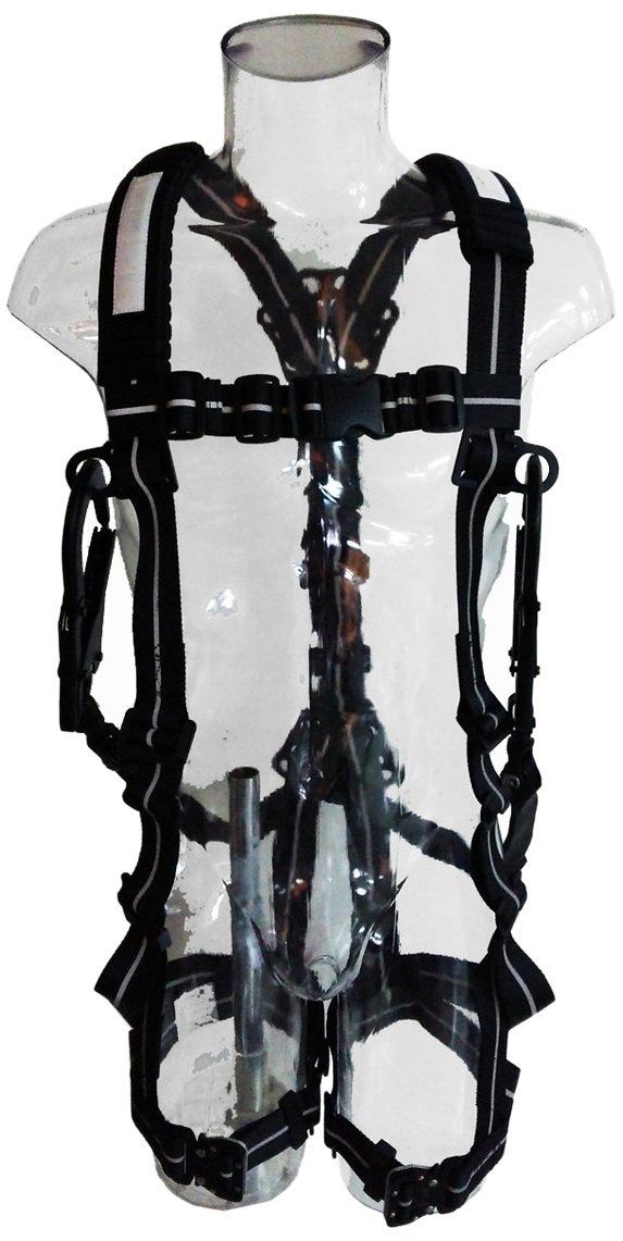 ツヨロン 安全帯 NV93ランヤード伸縮式 ワンタッチバックル 黒 サポートベルト&セーフティコード付 SAFOTNV93SVBKL [落下防止 電気工事 高所での安全作業] B013Q2Y4P0