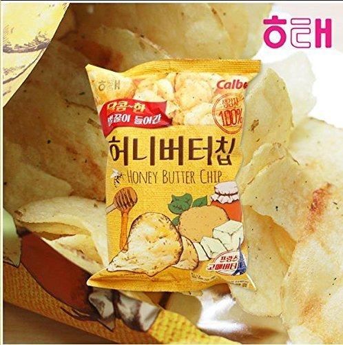 1 Pc Honey Butter Chip New Korea Potato Snack (60g X 1) ()