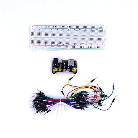 VDOTT® MB-102 MB102 Panadería sin Soldadura + Fuente de alimentación + Jumper Cable