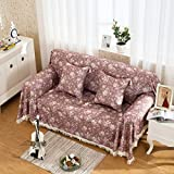 RUGAI-UE Sofa Slipcover Thick cloth leather sofa cushion cover whole set simple modern garden,Anxiang,180×180 single seat