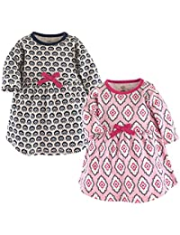 Baby Girls 2-Pack Organic Cotton Dress, Trellis, 3-6 Months