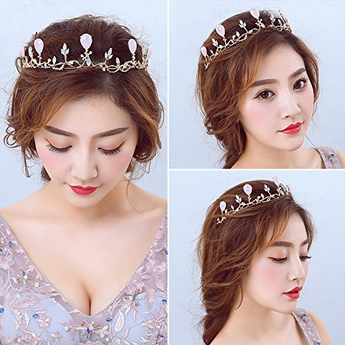 Generic wedding bridal headband girls ice princess crown tiara rhinestone crown tiara bridal hair accessories Wang Guan head ornament ()