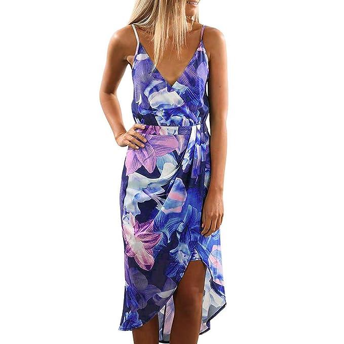 quality design 4e27a c68a7 VICGREY Donna Vestiti Eleganti Estivi Vestito da Giorno ...