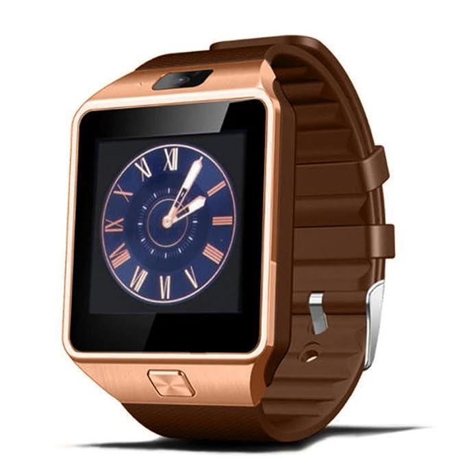 Xinan Reloj Inteligente de Pulsera Muñeca Impermeable de DZ09 Deportivo Bluetooth 3.0 Multifunciones Correa reemplazable con Micrófono de Pantalla 1.56 ...