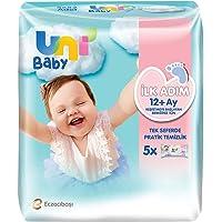 Uni Baby 7904287 İlk Adım Islak Mendil 5'li 260 Yaprak, Beyaz