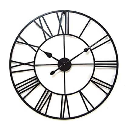 Amazon Com Ywyu Creative Roman Retro Wrought Iron Wall Clock Metal