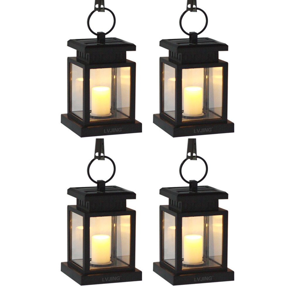 Solar Lantern Lights Outdoor Porch Patio Yard Decor Set 4 ...