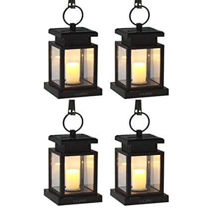 solar hanging lanterns outdoor Solar Lantern Hanging Solar Lights Outdoor 4 Pack, Solar Garden  solar hanging lanterns outdoor