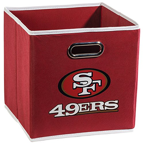 Franklin Sports San Francisco 49ERS Collapsible Storage Bin - Made to Fit Storage Bin Shelf Organizers - 10.5