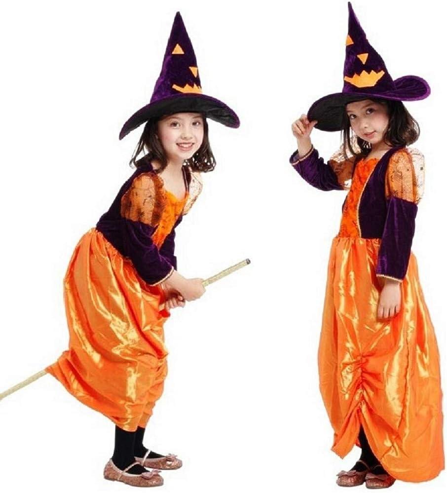 Disfraz s3ga infantil carnaval vegera maga color naranja violeta ...