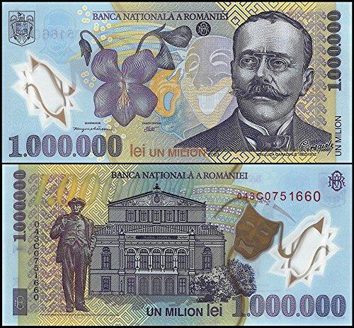 TrueFair - 1 x 1 million Romanian Lei Banknote, UNC, 2003