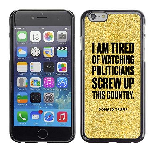 Print Motif Coque de protection Case Cover // Q04080568 Président Trump poussière de paillettes // Apple iPhone 7