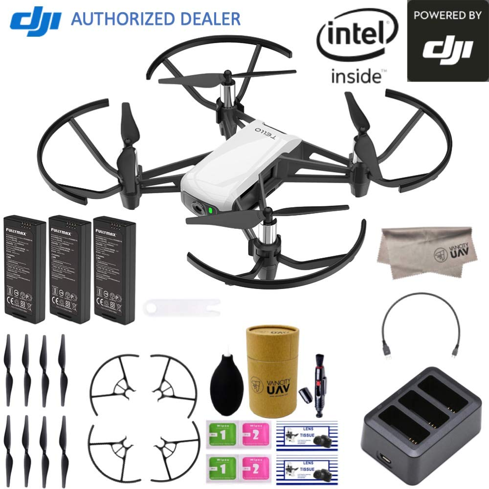 DJI Tello Quadcopter Drone Boost Combo with HD Camera and VR, comes 3 Batteries, 8 Propellers, Powered by DJI Technology and Intel 14-Core Processor, Coding Education, Throw and Go by DJI