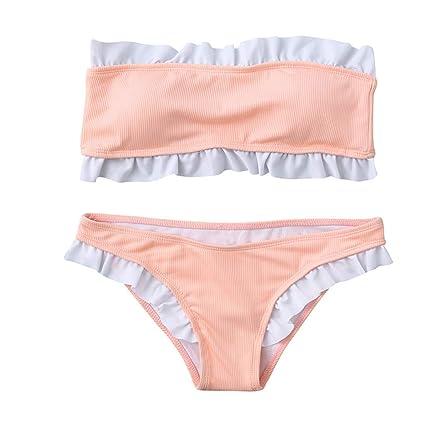 Amazon.com: AOJIAN Swimsuits Two Pieces Bikini Sets Ruffles Monokini Beachwear Tankini Swimwear Cover Up: Clothing