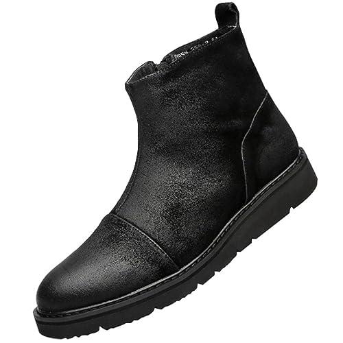 Spring Men Casual Martin Boots Botines Bajos Zapatos De Cuero Plataforma Vintage Ropa De Trabajo Zapatos De Los Hombres: Amazon.es: Zapatos y complementos
