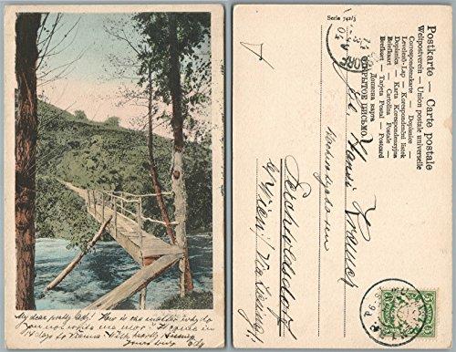 AUSTRIAN 1904 ANTIQUE POSTCARD w/GERMAN BAVARIA stamp - Bavaria Stamp