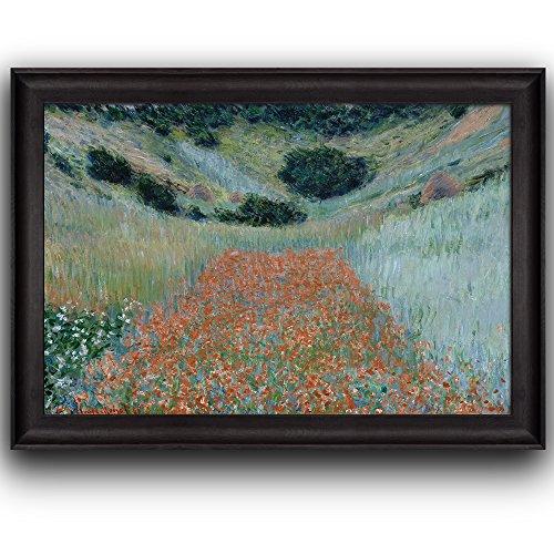 Poppy Field in a Hollow Near Giverny by Claude Monet Framed Art