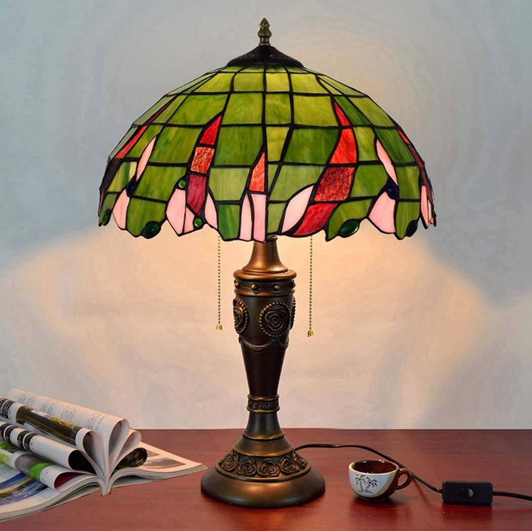ZHANGJW Lámpara de Mesa Estilo Tiffany de 16 Pulgadas, luz ...