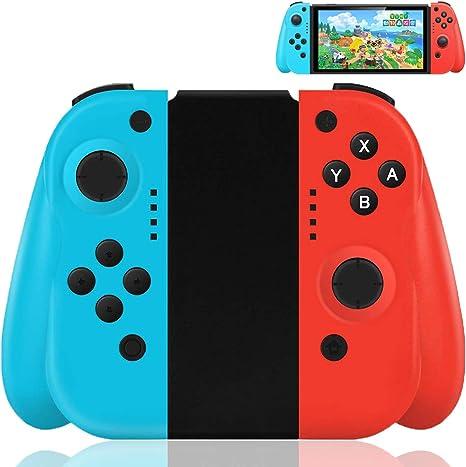 Maegoo Mandos Nintendo Switch, Switch Joy con Inalámbrico Mando Gamepad Joysticks para Nintendo Switch, Bluetooth Switch Mando Joycon De Reemplazo con Doble Choque y Giroscopio de 6 Ejes: Amazon.es: Electrónica