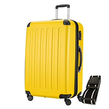 Hauptstadtkoffer® Spree 1203 Maleta rígida, 128 l, mate, cerradura de combinación TSA, correa de equipaje, amarillo (Amarillo) - HK1203-128: Amazon.es: ...