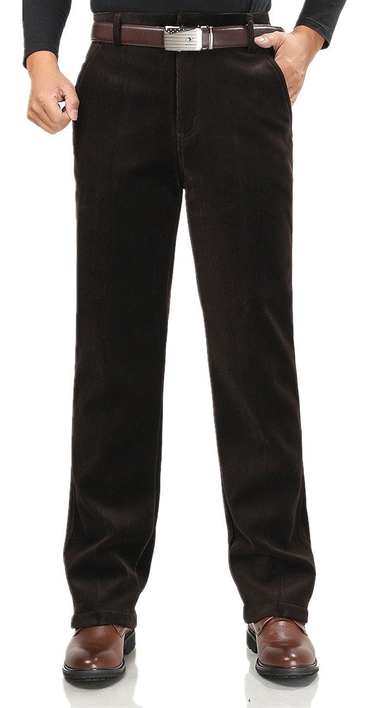 Men's Casual Pant Velvet corduroy Trousers Inside add fluff